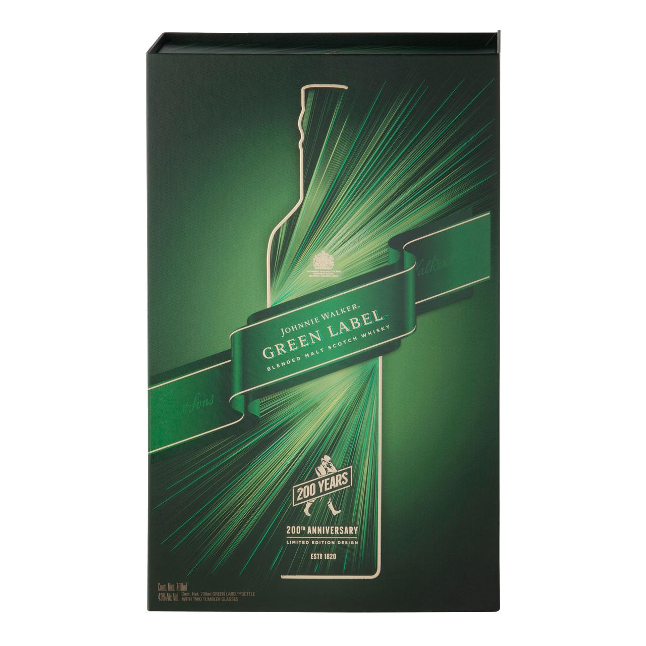 Johnnie Walker Green Label 15 años 200th