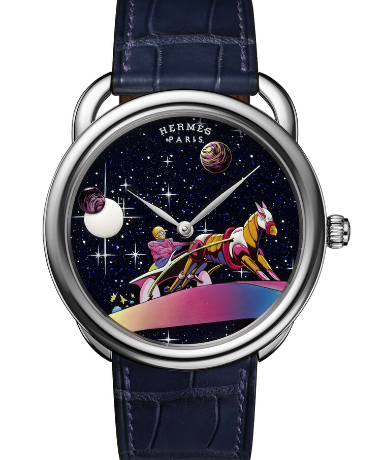 Hermès estrena tres relojes inspirados en su famosa bufanda Space Derby
